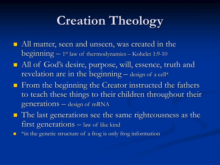 Creation Theology