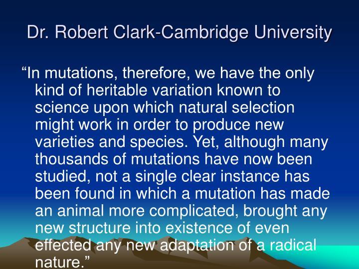 Dr. Robert Clark-Cambridge University