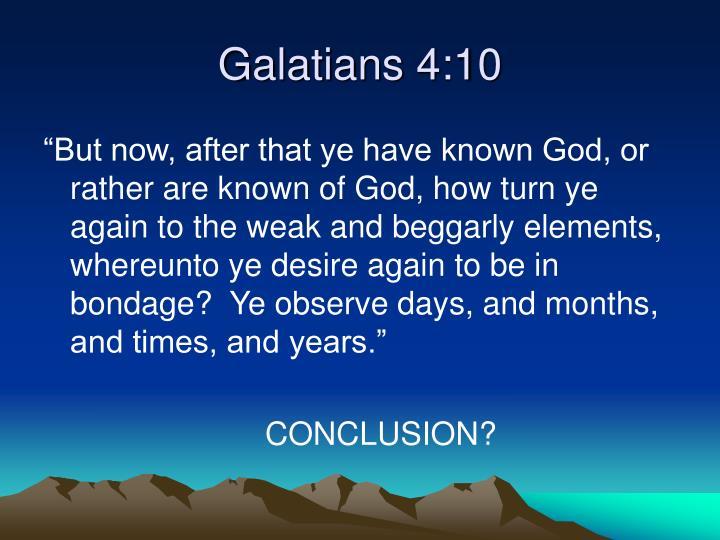 Galatians 4:10