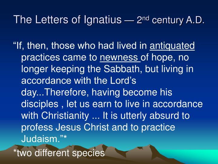 The Letters of Ignatius