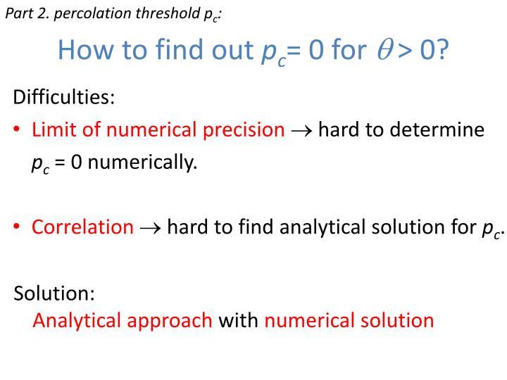 Part 2. percolation threshold