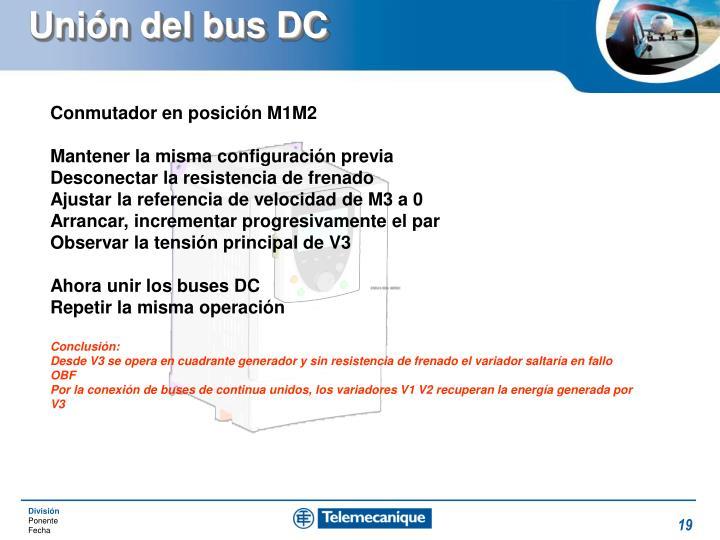 Unión del bus DC