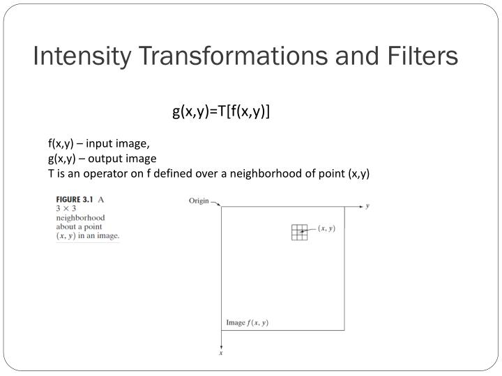 Intensity Transformations and Filters