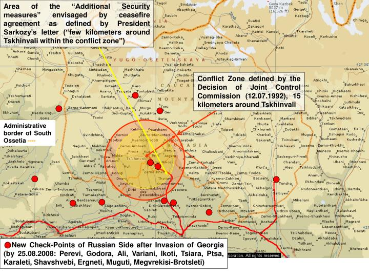 "Area of the ""Additional Security measures"" envisaged by ceasefire agreement as defined by Presid..."