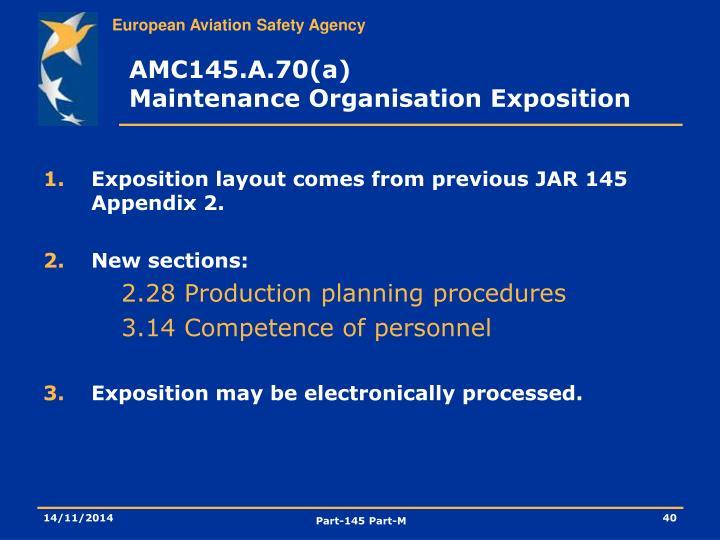 AMC145.A.70(a)