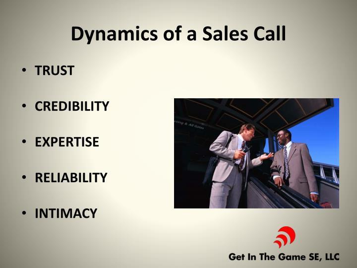 Dynamics of a Sales Call