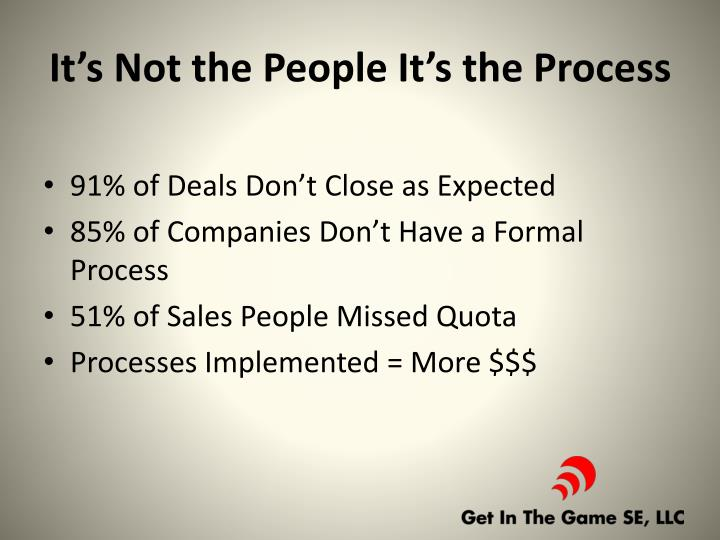 It's Not the People It's the Process