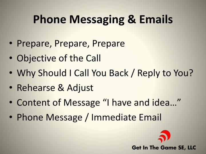 Phone Messaging & Emails