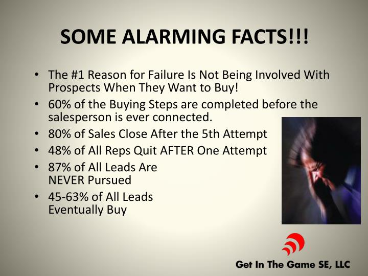 SOME ALARMING FACTS!!!