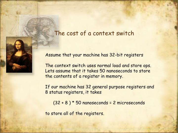 The cost of a context switch
