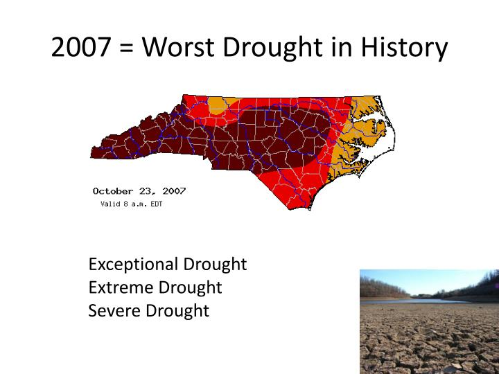2007 = Worst Drought in History