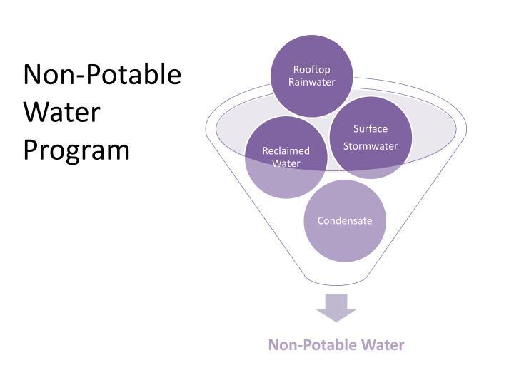 Non-Potable Water Program