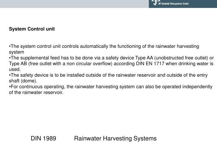 System Control unit