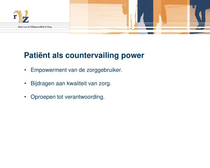 Pati nt als countervailing power