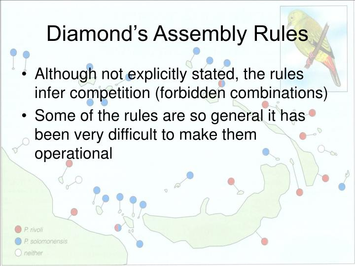 Diamond's Assembly Rules