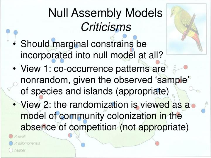 Null Assembly Models