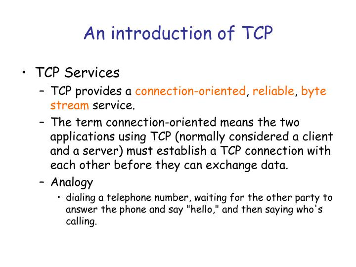 An introduction of TCP