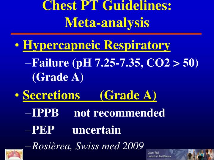 Chest PT Guidelines: