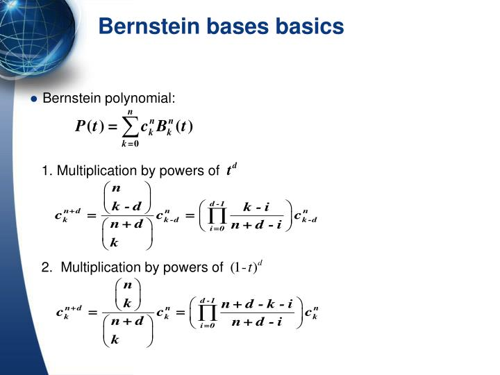 Bernstein polynomial:
