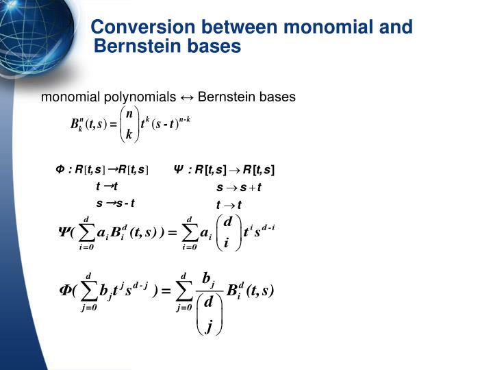 monomial polynomials