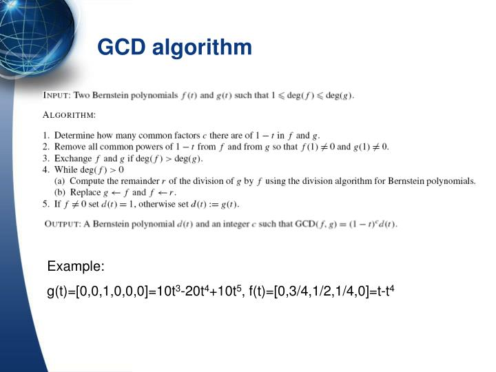 GCD algorithm