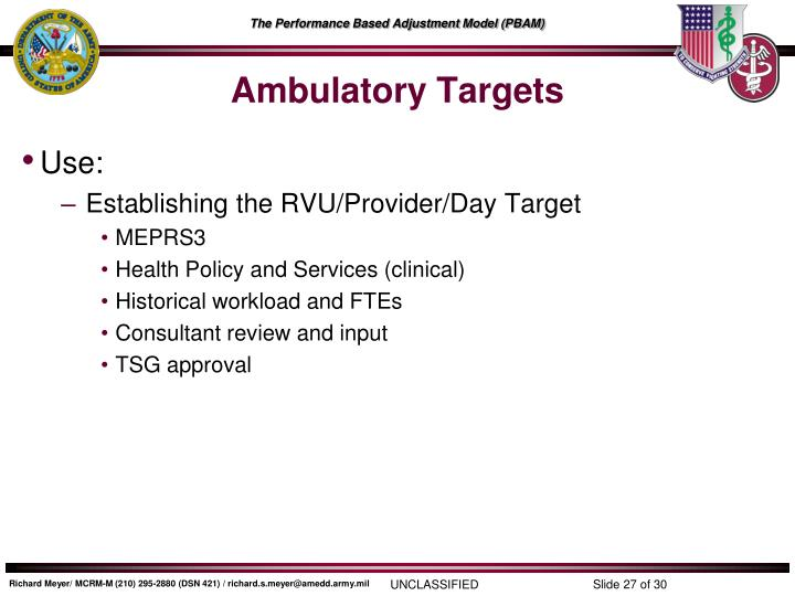 Ambulatory Targets