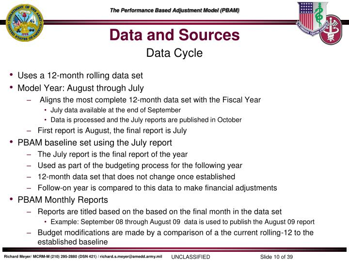 Data and Sources