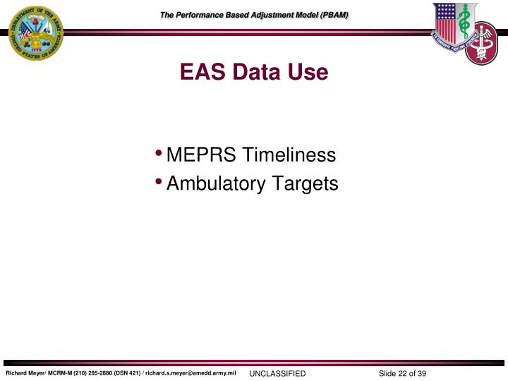EAS Data Use