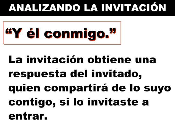 ANALIZANDO LA INVITACIÓN