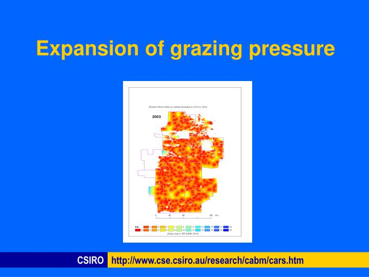 Expansion of grazing pressure