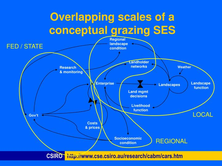Overlapping scales of a conceptual grazing ses