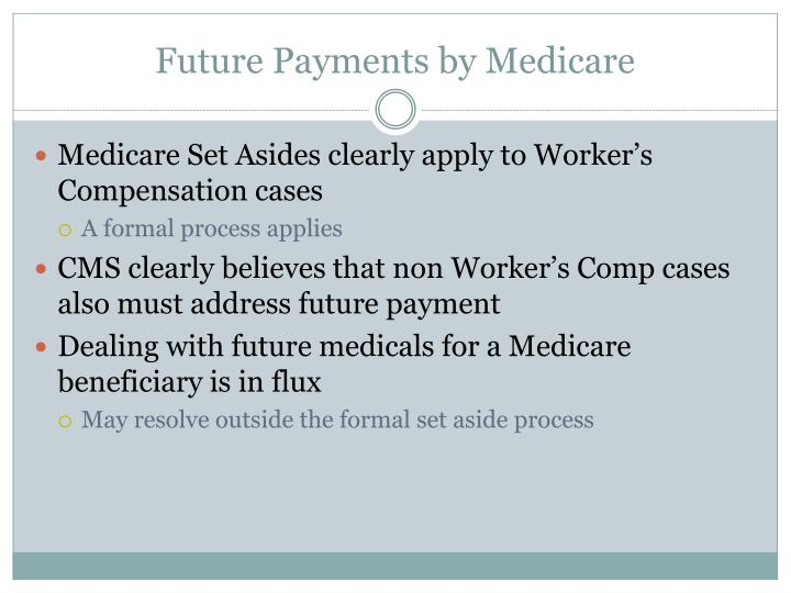 Future Payments by Medicare