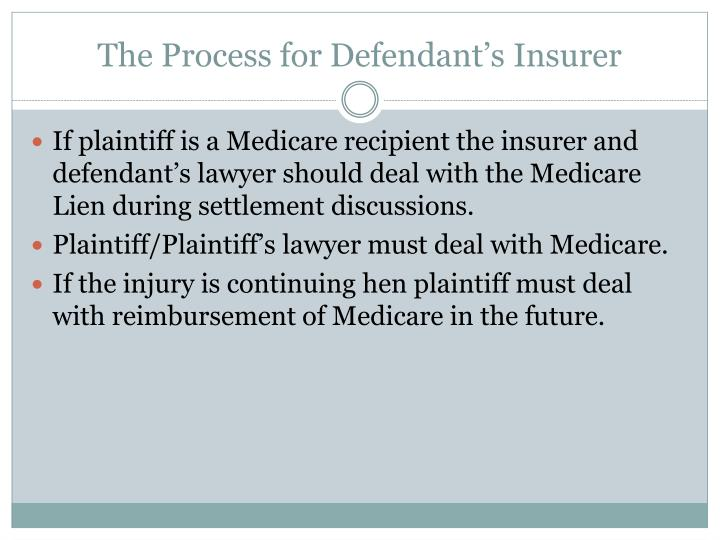 The Process for Defendant's Insurer