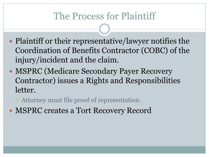 The Process for Plaintiff