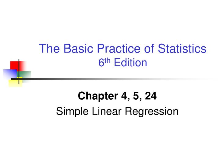 chapter 4 5 24 simple linear regression