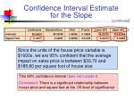 confidence interval estimate for the slope1