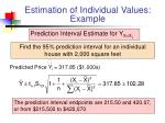 estimation of individual values example