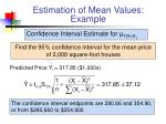 estimation of mean values example