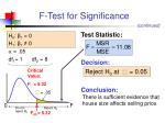 f test for significance1
