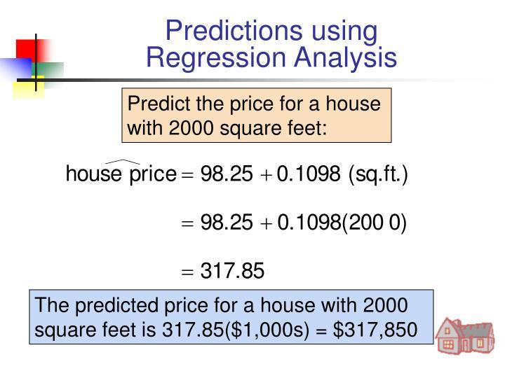 Predictions using