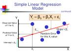 simple linear regression model2