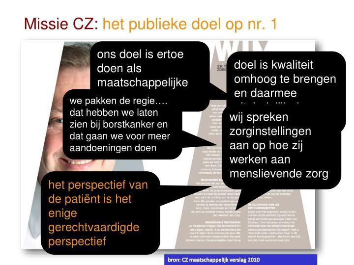 Missie CZ: