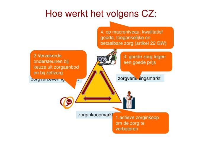 Hoe werkt het volgens CZ:
