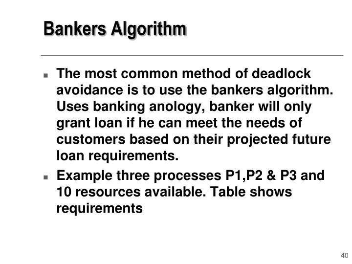 Bankers Algorithm