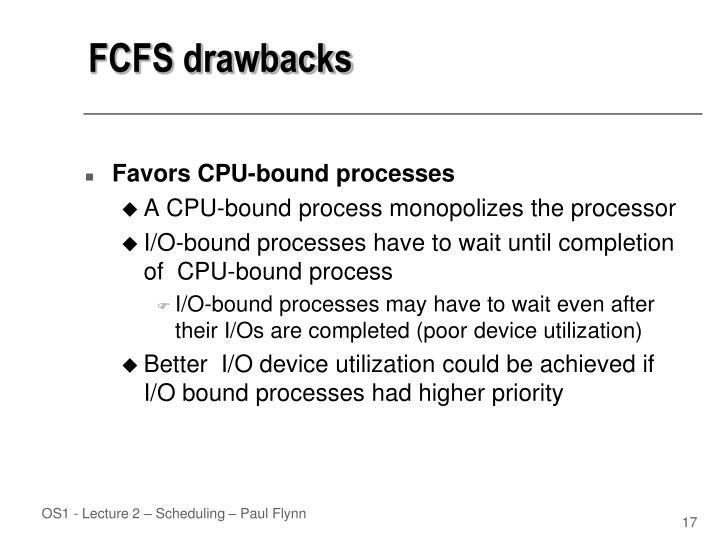 FCFS drawbacks