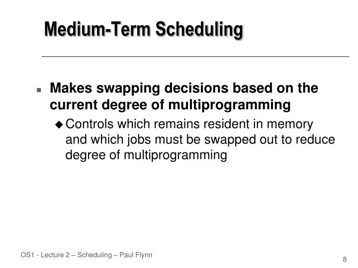 Medium-Term Scheduling