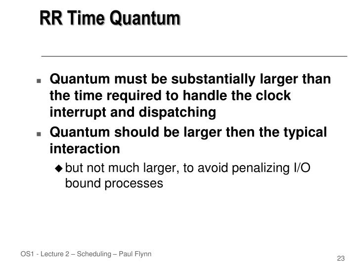 RR Time Quantum