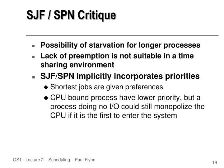 SJF / SPN Critique