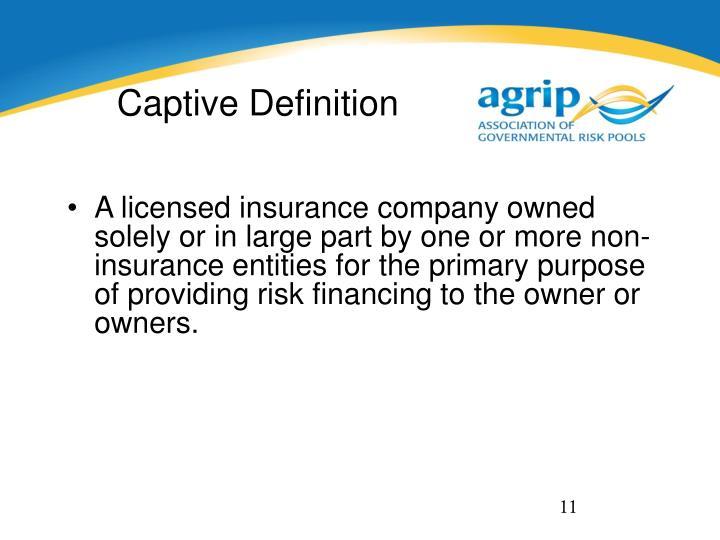 Captive Definition