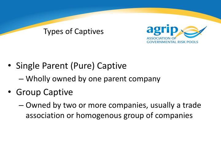 Types of Captives